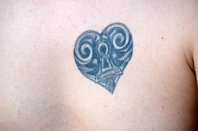 NATE HEART TATOO