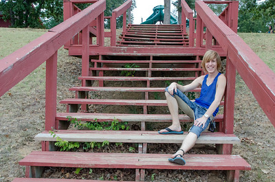 CHRIS ON STAIRS AT PARK