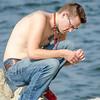 NATE SITTING ON ROCK AT EISENHOWER STATE PARK