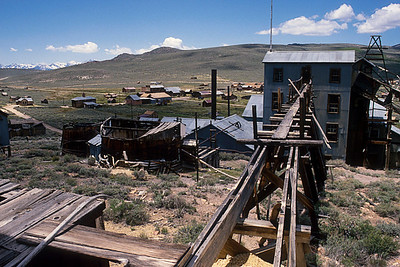 The ore carts would bring in the rock at the top of the mill and then it would be shoved down shafts to waiting equipment below.
