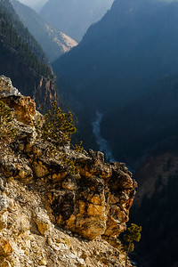 Yellowstone River continues thru the Grand Canyon of the Yellowstone.