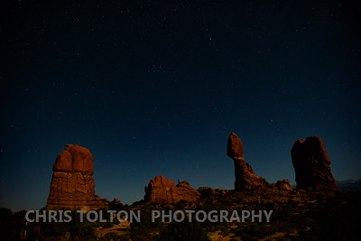 BALANCED ROCK WITH STARS