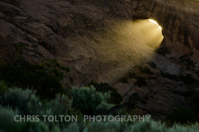 Tunnel Arch Sunset Beam