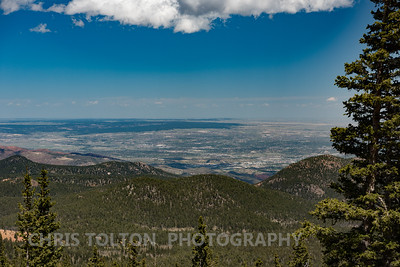 COLORADO SPRINGS FROM COG RAILWAY