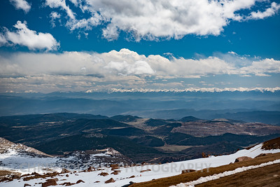 SOUTH VIEW PANORAMA - PIKES PEAK
