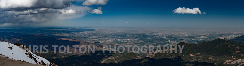 COLORADO SPRINGS PANORAMA FROM PIKES PEAK