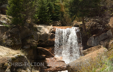 WATERFALL ALONG COG RAILWAY