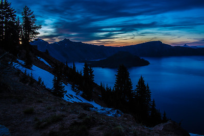 EVENING AT CRATER LAKE