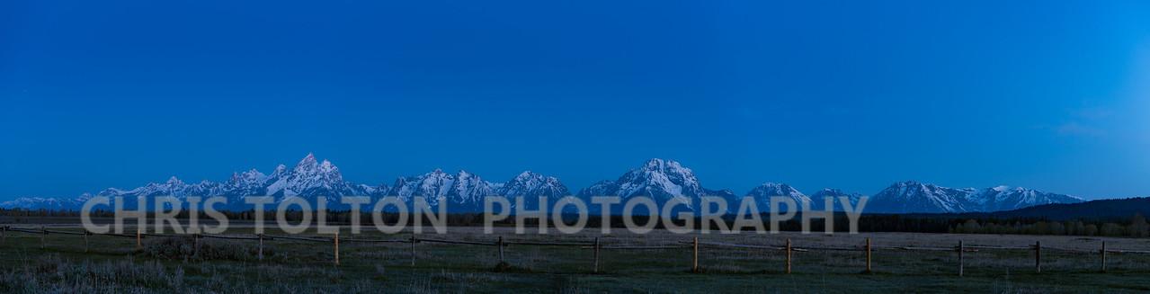 Teton Morning Panorama
