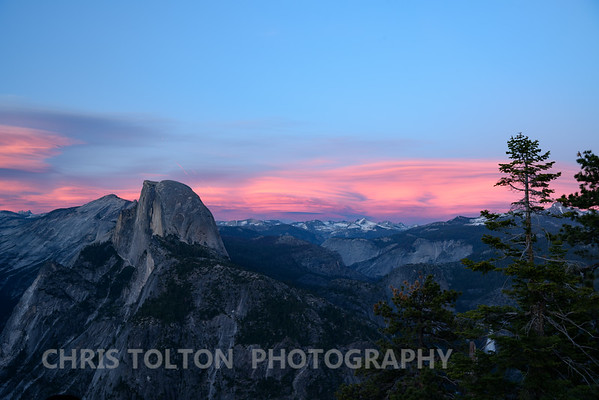 HALF DOME & CATHEDRAL RANGE SUNSET