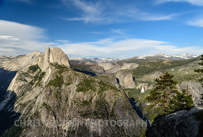 HALF DOME, VERNAL & NEVADA FALLS