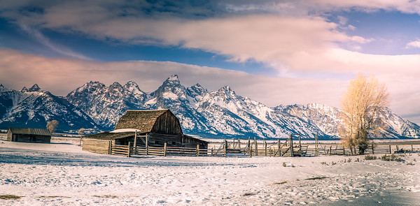 Winter Panorama of Mormon Homestead
