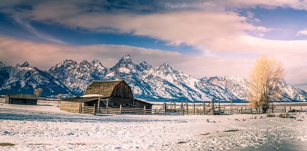 Winter Panoram of Mormon Homestead