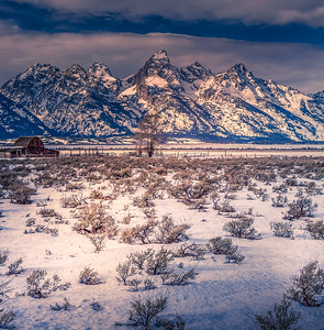 Portrait of Tetons Moutains