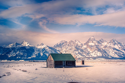 Homestead and Tetons in Background