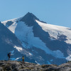 Hiking on Mount baker