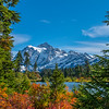 Mount Shuksan's reflection in the fall