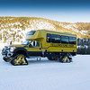 Snow coaches in Yellowstone