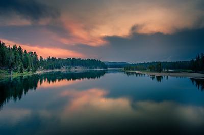 Sunrise from fishing bridge photo