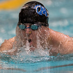 On July 9, 2015, at the National Senior Games Association competition in Freeman, Minn, swimmer John Griffin is at the University of Minnesota doing the 50 yard breast stroke. (© Erica Jacques 2015)