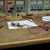Here I'm in the process of selecting the proper value resistors for the screen monitor circuits.