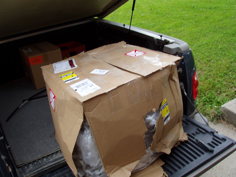 This is how these came off the UPS truck, I was sure this was a desaster.