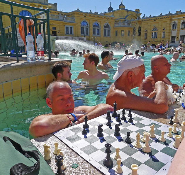 Dave Onley in the Széchenyi Spa