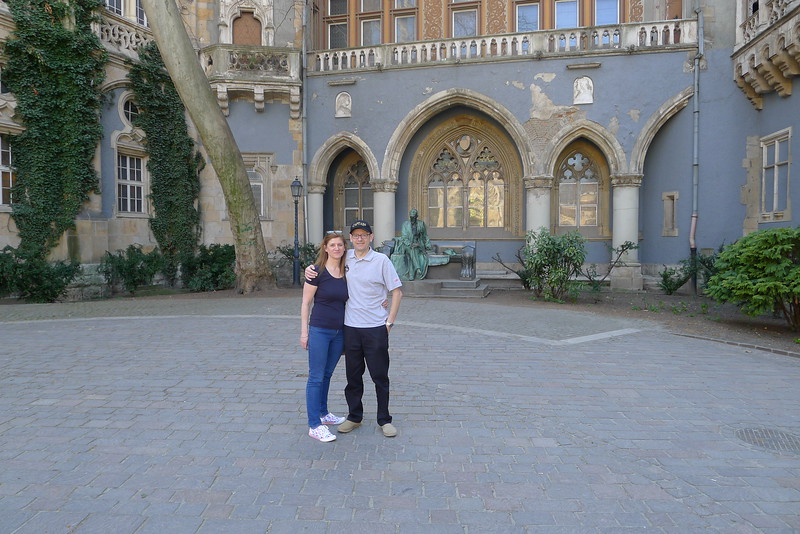 Me and Susie at the Vajdahunyad Castle