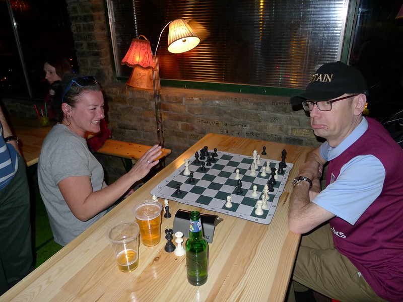 Helen thrashes Carl at chess
