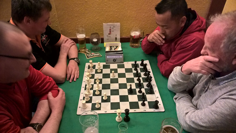 Chess in the pub - UK v Germany