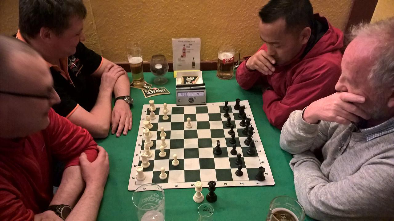 Chess in the pub - UK v Germany