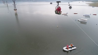 Lake Modrac cable car rescue