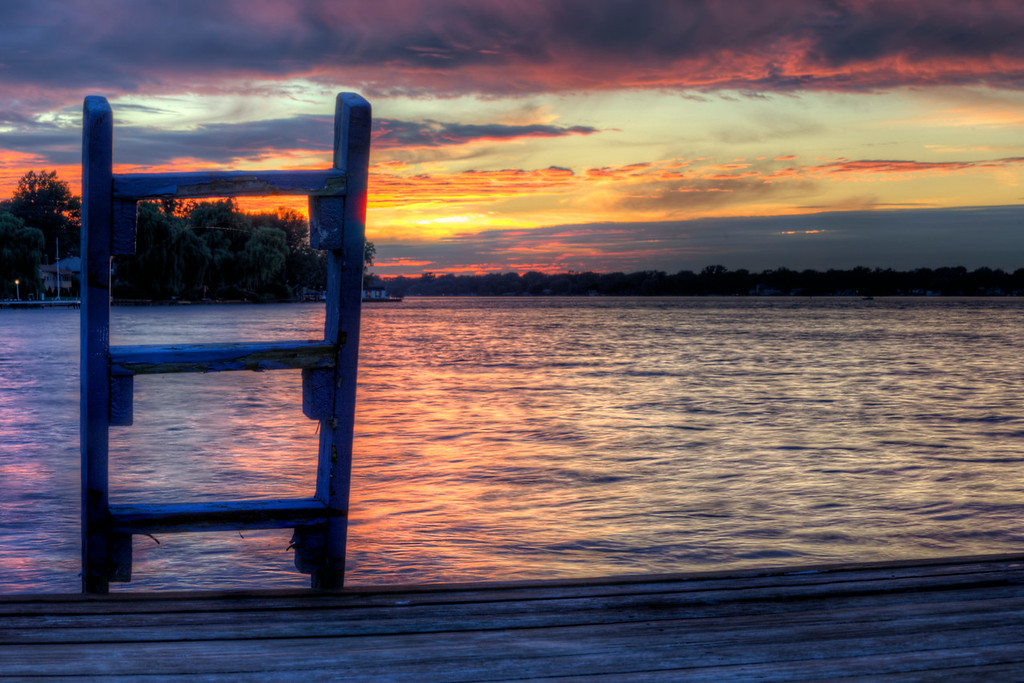 The Killian residence dock, Grand Island, NY - Niagara River