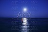 caribbean moon night sea reflection scenic
