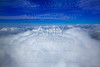 Sea of clouds sky aircraft view