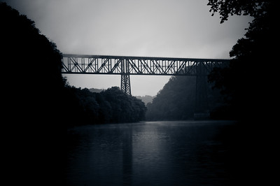 'High Bridge'  -  A tall train bridge in Kentucky built in the 1800's over the Kentucky River.  Once, the tallest train bridge of it's kind in the nation.