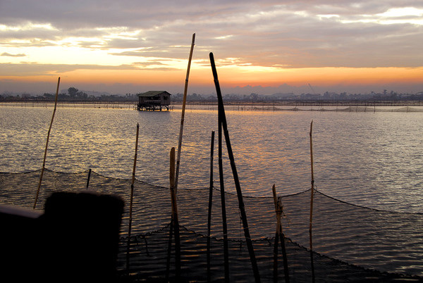 SUNRISE AT THE FISHPONDS OF MALABON