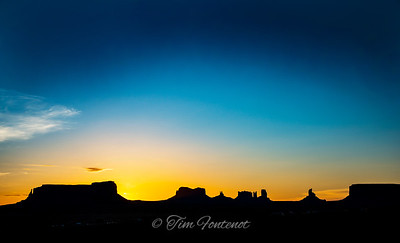 Sunrise at Monument Valley Nat'l. Historic Site