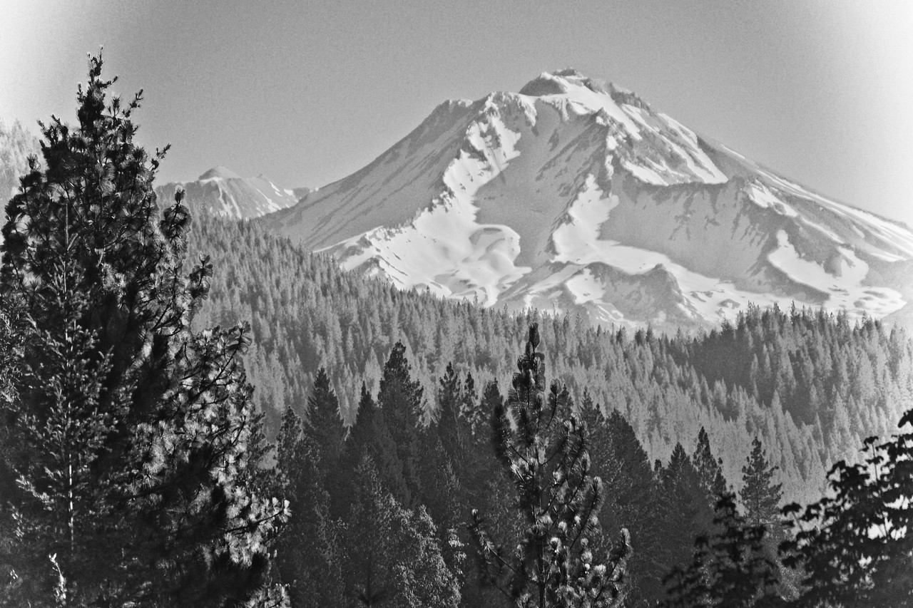 Mount Shasta California Volcanic Snow July 2017