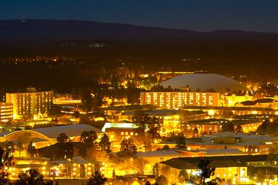 NAU Campus at Night