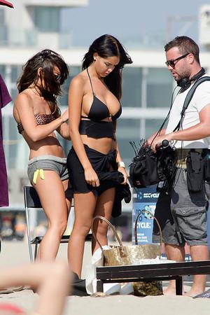 Nabilla and cast in Venice