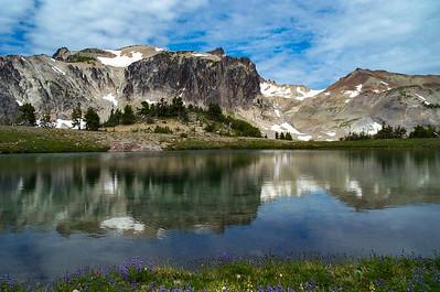 Glacier fed small un-named lake