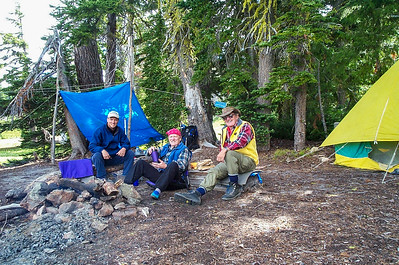 Jason, Ken & Ron at our camp at Upper River Camp