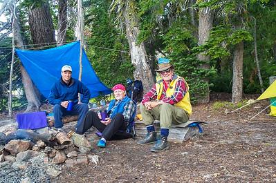 Jason, Ken & Ron at our camp at Upper River Camp
