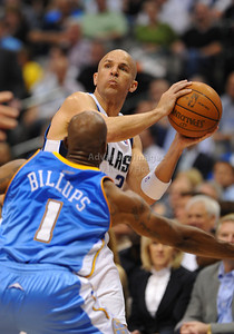 March 29th, 2010   Dallas Mavericks guard Jason Kidd #2 brings the ball forward in a game between the Denver Nuggets and the Dallas Mavericks at the American Airlines Center in Dallas, Texas. Dallas wins 109-93