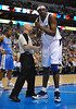 March 29th, 2010  <br /> Dallas Mavericks center Brendan Haywood #33 talks to Ref Joey Crawford about being held in a game between the Denver Nuggets and the Dallas Mavericks at the American Airlines Center in Dallas, Texas.<br /> Dallas wins 109-93