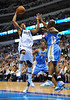 March 29th, 2010  <br /> Dallas Mavericks forward Caron Butler #4 drives to the basket<br /> in a game between the Denver Nuggets and the Dallas Mavericks at the American Airlines Center in Dallas, Texas.<br /> Dallas wins 109-93