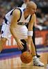 March 29th, 2010  <br /> Dallas Mavericks guard Jason Kidd #2 brings the ball forward<br /> in a game between the Denver Nuggets and the Dallas Mavericks at the American Airlines Center in Dallas, Texas.<br /> Dallas wins 109-93