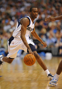 March 29th, 2010   Dallas Mavericks guard Rodrigue Beaubois #3 drives to the basket in a game between the Denver Nuggets and the Dallas Mavericks at the American Airlines Center in Dallas, Texas. Dallas wins 109-93
