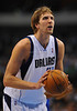 March 29th, 2010  <br /> Dallas Mavericks forward Dirk Nowitzki #41 shoots free throws<br /> in a game between the Denver Nuggets and the Dallas Mavericks at the American Airlines Center in Dallas, Texas.<br /> Dallas wins 109-93